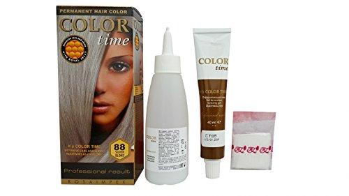 Farbe Zeit Permanent Hair Dye mit Royal Jelly Farbe Silber Blonde 88 (Grau Permanente Haar Farbstoff)