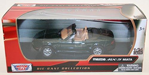 Motor Max 1/24 Scale Diecast 73262GRN - Mazda MX-5 Miata - Green (Motor Max-die Cast-autos)