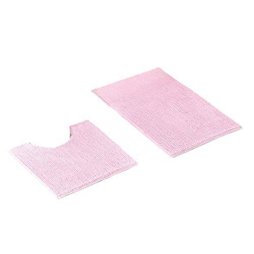 REFURBISHHOUSE Badezimmer 2 Stück/Set Badezimmer Matte Set Boden Teppiche Kissen Toilette Sitz Bezug Bade Matte Für Heimtextilien Rosa