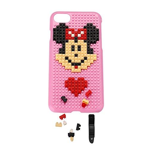 Liamoo® Apple iPhone 7 Baustein-Hülle / Schurzhülle / selber - bauen / gestalten / design / ausgefallen / Muster / Lachen mit Herz Maus