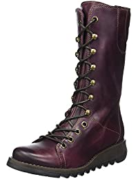 Fly london Ster768Fly Purple Leather Womens Mid Calf Boots