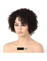 e990db55a815 Cheveux humains des Perruques pour femme noire court bouclés perruque 100%  non transformés brésiliens vierges