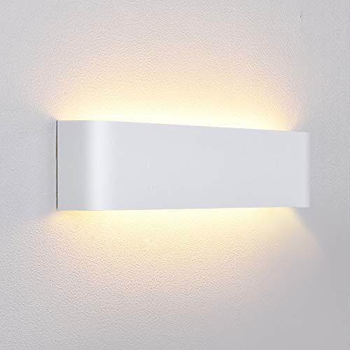 Lightess 12W Apliques de Pared LED Interior Lámpara de Pared Moderna Blanco Luz de Aluminio Perfecto...