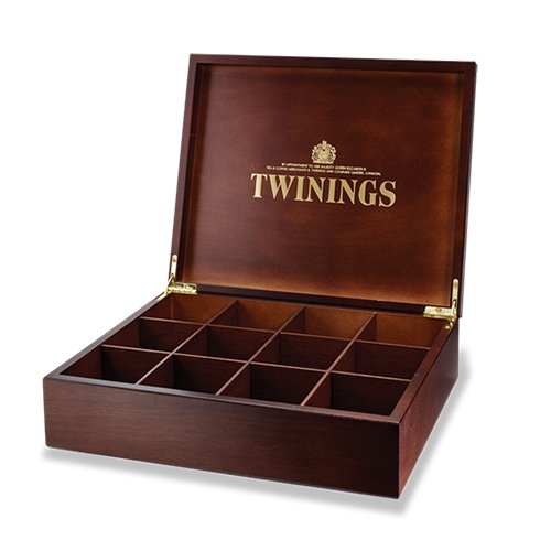 twinings-12-compartment-wooden-tea-chest-box-envelope-tea-display-storage-no-tea-included