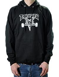 Thrasher skategoat Black con capucha