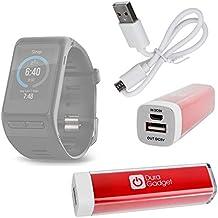 Batterie externe universelle portative pour montre connectée Garmin Vivoactive HR, OUKITEL A28 SmartWatch, Jawbone UP2 et Runtastic Orbit, par DURAGADGET