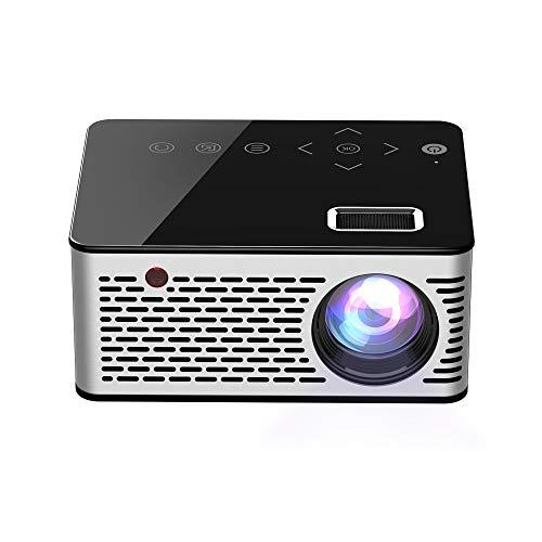 WANGLX ST T200 Mini Tragbar Beamer Zuhause HD Kinder Heimkino Projektor Multimedia Spieler Kompatibel HDMI/USB/DC/AV/TF Karte, Black - Tragbar Multimedia-projektor
