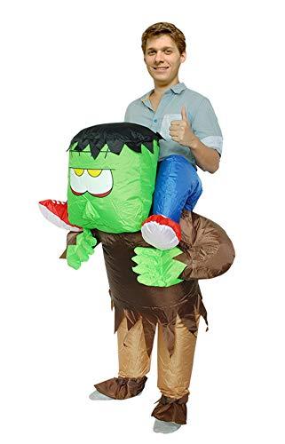 JF Deco Fahrt auf Monster Kostüm Aufblasbare Halloween Kostüme Party Anzug für Mens & Womens Erwachsene Größe