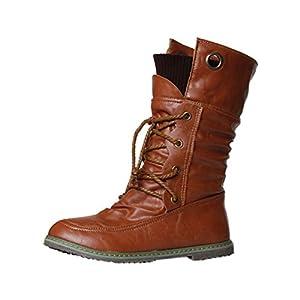 Stiefel Damen, LANSKIRT Verbandstiefel Weibliche Stiefeletten Stiefeletten  Halbschaft Stiefel Plateau Blockabsatz Knöchelhohe Stiefel Boot Sandalen  Sneakers ... f624b788af