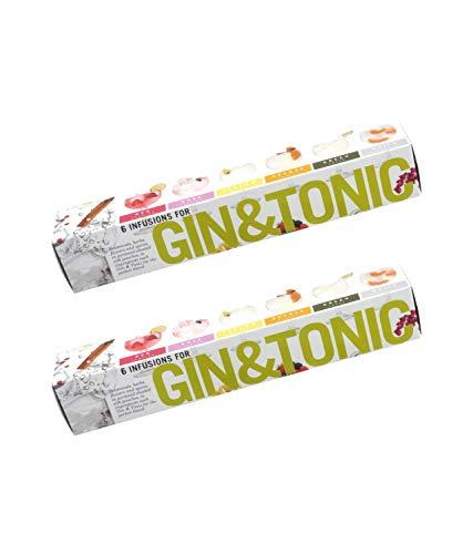 2 x 6 Gin Tonic infusions Aroma Beuteln Botanicals Geschenk - Aromen zum Verfeinern Ihres Gin. 100% natürliche Gewürze, Kräuter und Blumen machen Ihren Gin and Tonic -