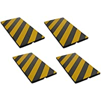 FCP4425BYx4 Protector de esquina adhesivo, fabricados en espuma goma, para la protección de las columnas de garaje y aparcamientos, dimensiones 44x25x2 cm, color negro/amarillo (4 piezas)