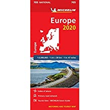 Europe 2020 - Michelin National Map 705: Map (Michelin National Maps)