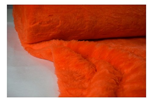 FABRICS-CITY ORANGE SOFTIG ZOTTY TEDDYFELL KURZHAARIG STOFF STOFFE, 4102 (Orange Fell)