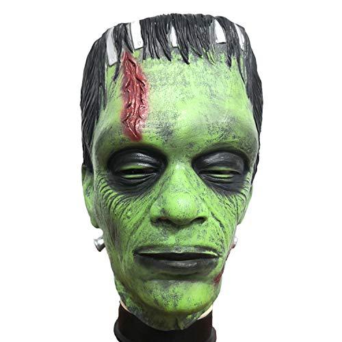 Frankenstein Kostüm Deluxe - WYJSS Party Story Halloween Horror Maske Wissenschaftler Maske Alien Maskentänzer Scary Requisiten Cosplay Kostüm Requisiten Grün,Green-OneSize