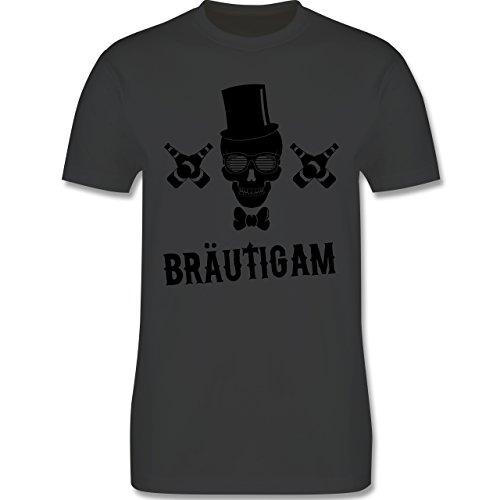 JGA Junggesellenabschied - Bräutigam Totenkopf - Herren Premium T-Shirt Dunkelgrau