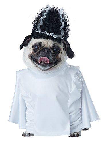 Monster Braut Kostüm - California Costume Collection Hundekostüm Bride of Franken, X-Small, weiß