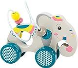 small foot 11088 Schiebetier mit Motorikschleife Jungle aus Holz für Kinder ab 12 Monate, FSC 100%-Zertifiziert Spielzeug, orange