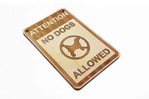 Origin Designed Ohne Hunde Erlaubt Tür Schild Holz Medium Größe Traditionelles Design Perfekt für Arbeit, Business, Einzelhandel, Schule, Gastfreundschaft, Hotel, Bar, Restaurant, Home