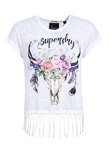 Superdry Damen T-Shirt Weiß