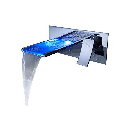 Sprinkle® by Lightinthebox El cambio de color baño llevó cascada grifo del fregadero (montaje en pared)