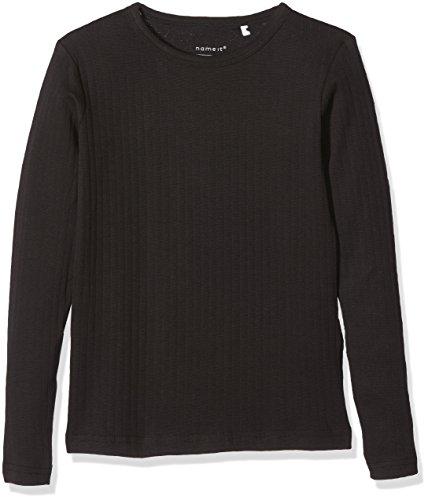 NAME IT Jungen Langarmshirt Nkmvay LS Slim Top Noos, Schwarz (Black), 128 (Herstellergröße: 122-128)