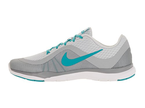 Nike Wmns Flex Trainer 6, Baskets Basses Femme, Taille Plateado (Pr Pltnm / Gmm Bl-Wlf Gry-Stlth)
