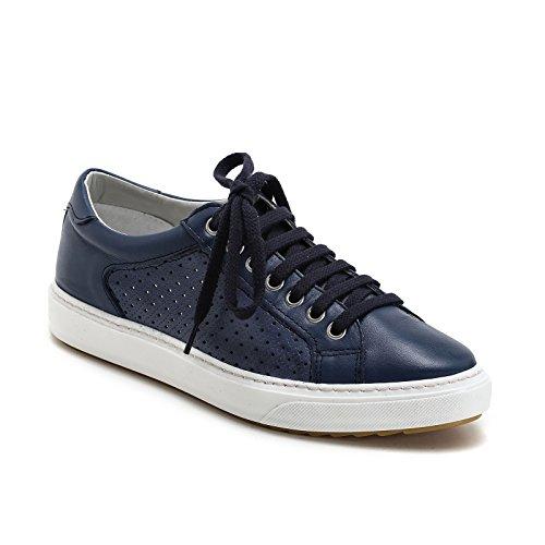 Shoe BLU 2750 CLASSIC Lacci SUPERGA COTU Trainer Tela Donna MARINE LUCE Uvaq4