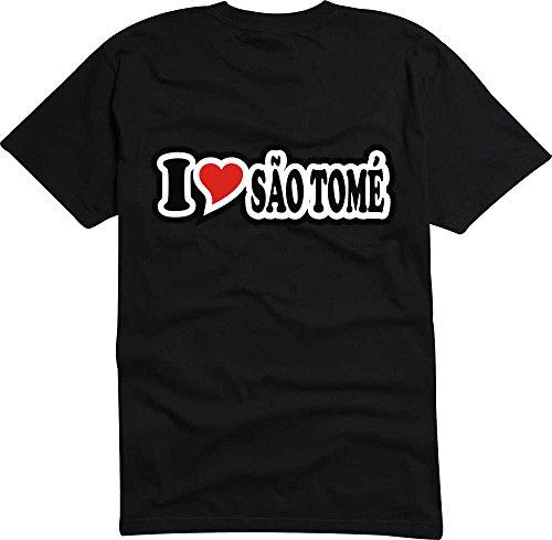 T-Shirt I Love Heart Herren I LOVE SÌO TOMƒ Schwarz