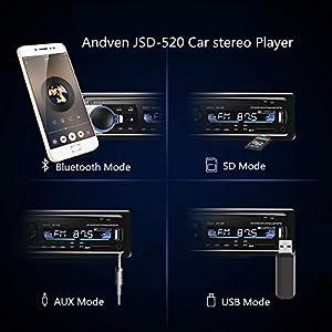 Andven-Autoradio-mit-Bluetooth-Freisprecheinrichtung-Digital-Media-Receiver-4X60W-Auto-Radio-1-Din-USB-SD-AUX-MP3-Player-Receiver-mit-Fernbedienung