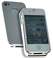 Hard Back Aluminium Protective Case for Apple IPhone 4/4s Smash Scratch Drop Impact Resistant - Silver