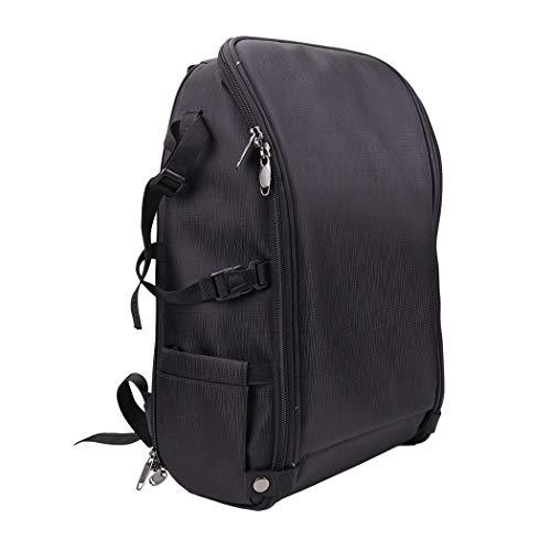 LUVODI - Zaino per fotocamera SLR/DSLR, obiettivo e accessori, custodia da viaggio per laptop da 15,6', con supporto per treppiede, lucchetto antifurto, impermeabile