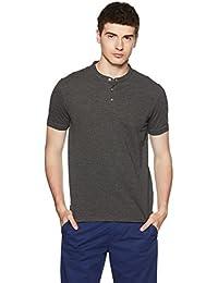 Peter England Men's Solid Regular Fit T-Shirt