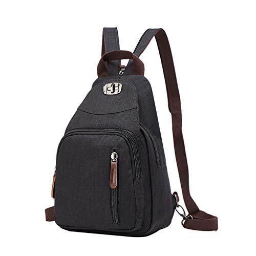 (CHENYANG Frauen Vintage Mini Rucksack Tasche Leinwand Kleiner Rucksack Sport Casual Rucksack)