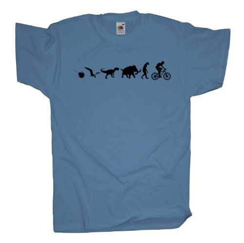 Ma2ca - 500 Mio Years - Mountainbike Biker T-Shirt Skyblue