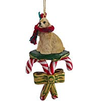 COCKER SPANIEL Buff Dog CANDY CANE Christmas Ornament DCC15C by Eyedeal Figurines