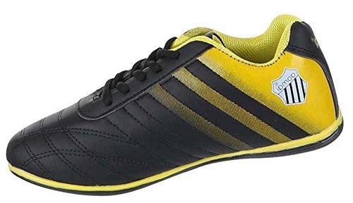 Damen-Schuhe Sneaker | sportliche Freizeitschuhe in verschiedenen Farben und Größen | Schuhcity24 | Schnürer Nr 3 Schwarz