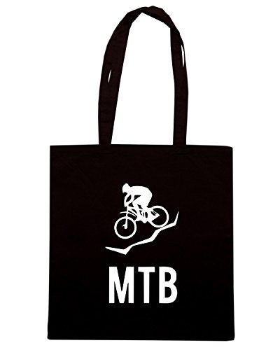 T-Shirtshock - Borsa Shopping SP0111 MTB Mountain Bike Maglietta Nero