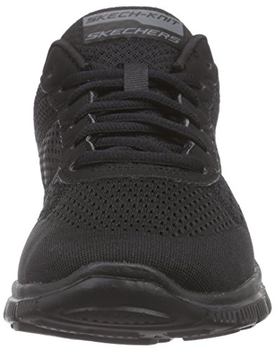 Skechers Flex Appeal Obvious Choice, Baskets Basses Femme Noir (bbk)