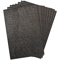 The Felt Store Cortes Almohadillas Protectores de Fieltro, Aprox. 15 x 21,6 x 0,5 cm, Extra Durable, Autoadhesivo, 8 Piezas, marrón, protección Suelos mesas sillas - Made in Kanada
