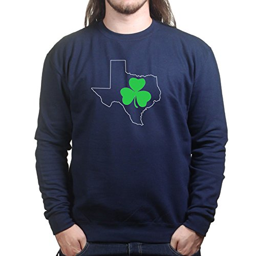 Texan Irish Paddys Day Shamrock Clover Leprechaun Pullover Tee