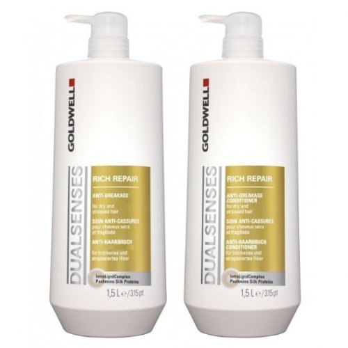 Goldwell Dual Senses Rich Repair Shampoo e Balsamo Hair 25.4 oz EACH by Gold Well (English Manual)