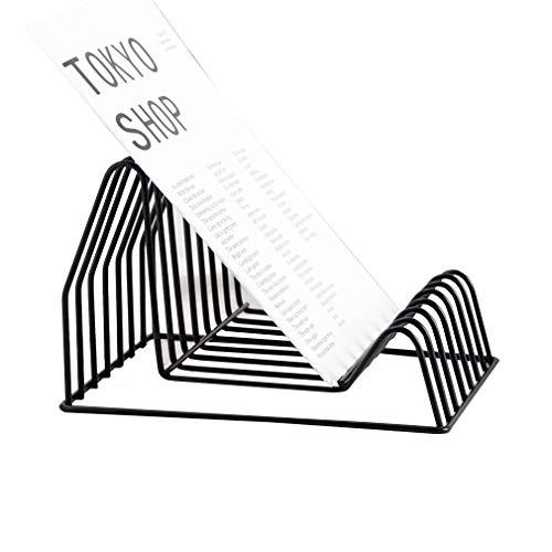 Metall Bücherregal Dreieckige Regale Desktop-Speicher-Organisator Sortierung Buchstützen Datei Rack Home Office Schreibwaren (22,5 * 18 * 14,5 cm) Black Metal Bücherregal Regal