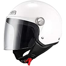 NZI 150263G001 Capital Visor Casco de Moto, Color Blanco, Talla M(57-
