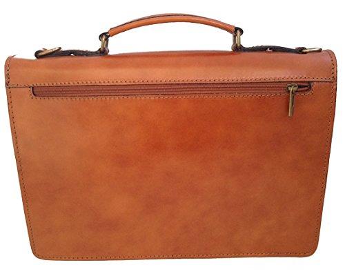 Man Tasche von CTM Arbeitsordner, Port Dokumente, 38x27x7cm, 100% echtes Leder Made in Italy Leder