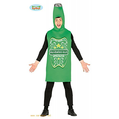 Imagen de disfraz de botella de cerveza verde para adultos