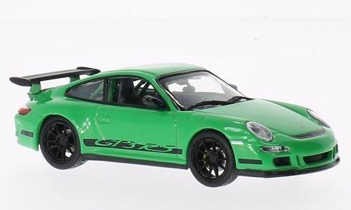 Porsche 997 GT3 RS, Felgen u. Streifen schwarz, grün, Modellauto, Fertigmodell, Lucky Die Cast 1:43 - Felgen Porsche 997