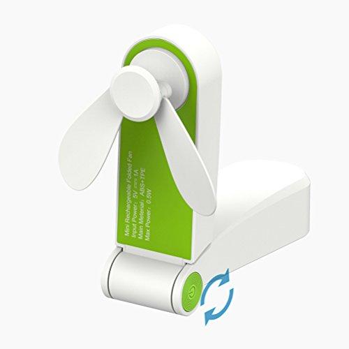 Teabelle Mini Ventilador Plegable de Mano USB silencioso Reutilizable Ventilador de Bolsillo...