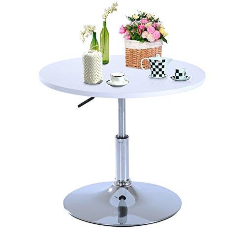 Altezza Tavolini Da Salotto.Homcom Tavolino Da Salotto Basso Tavolino Da Caffe Rotondo In