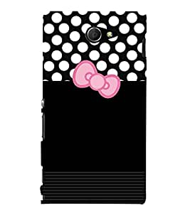 Sony Xperia M2 Dual :: Sony Xperia M2 Dual D2302 bow Printed Cell Phone Cases, dots Mobile Phone Cases ( Cell Phone Accessories ), plain Designer Art Pouch Pouches Covers, girly Customized Cases & Covers, cute Smart Phone Covers , Phone Back Case Covers By Cover Dunia