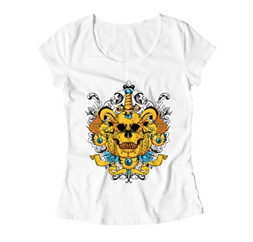 In Your Head Traditional Tattoo Style Illustration Damen T-Shirt - Weiß - Small (Dragon Youth Tshirt)